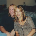 Annie in the studio with Chuck Ainlay